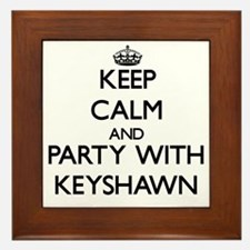 Keep Calm and Party with Keyshawn Framed Tile