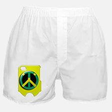 rasta peace yellow i phone 4 slider c Boxer Shorts