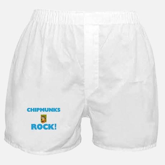 Chipmunks rock! Boxer Shorts