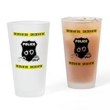 Police Crime Scene Drinking Glass