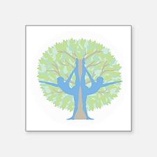 """YogaTreeWhite Square Sticker 3"""" x 3"""""""