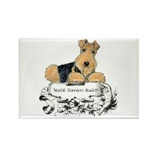 Welsh Terriers Rule! Rectangle Magnet