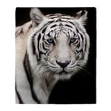 Tiger white Fleece Blankets