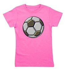 soccer art bevel 1 Girl's Tee