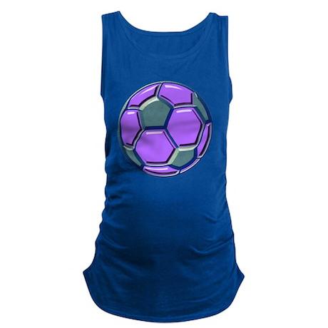soccer glass bev purp blue Maternity Tank Top