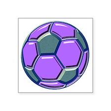 "soccer glass bev purp blue Square Sticker 3"" x 3"""