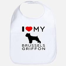 I Love My Brussels Griffon Bib