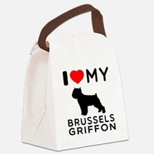 I Love My Brussels Griffon Canvas Lunch Bag