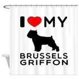 Brussels griffon Shower Curtains