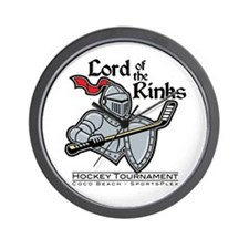 Lord of the Rinks Hockey Wall Clock