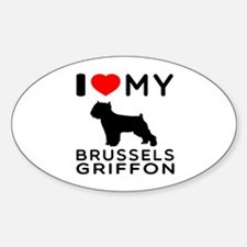 I Love My Brussels Griffon Decal