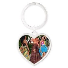 Miss Runway 2010 Heart Keychain