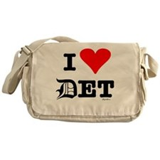 I heart det black Messenger Bag