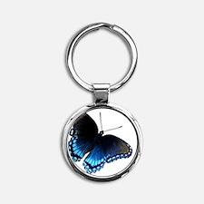 Butterfly iPhone 4 Slider Case Round Keychain
