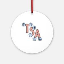 TSA-hands-FLAT Round Ornament