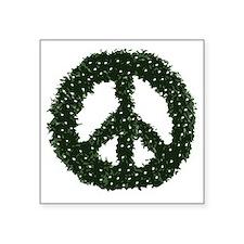 """peace-wreath Square Sticker 3"""" x 3"""""""