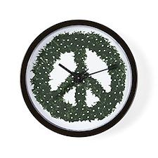peace-wreath Wall Clock