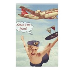 flygirl xanax Postcards (Package of 8)