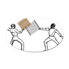 fencing Oval Car Magnet