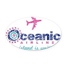 Oceanic Oval Car Magnet