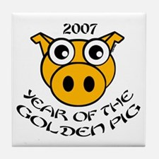 YEAR OF THE GOLDEN PIG Tile Coaster