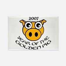 YEAR OF THE GOLDEN PIG Rectangle Magnet