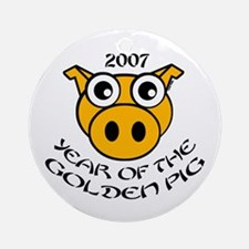 YEAR OF THE GOLDEN PIG Ornament (Round)