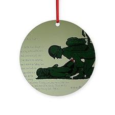 CombatMedicPrayer Round Ornament