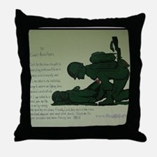 CombatMedicPrayer Throw Pillow