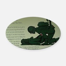 CombatMedicPrayer Oval Car Magnet