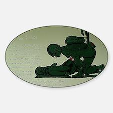 CombatMedicPrayer Sticker (Oval)