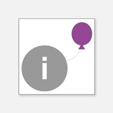 "introvert party logo.gif Square Sticker 3"" x 3"""