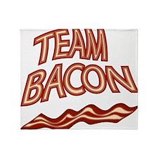 Team Bacon3 Throw Blanket