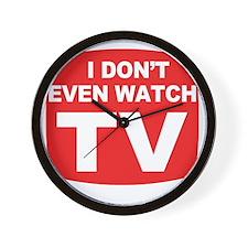 idontevenwatch Wall Clock