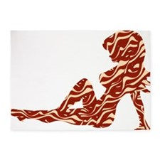 Bacon Mudflap 5'x7'Area Rug