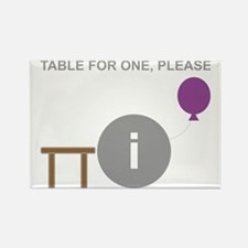 Introvert table for one.gif Rectangle Magnet
