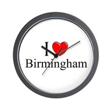 """I Love Birmingham"" Wall Clock"