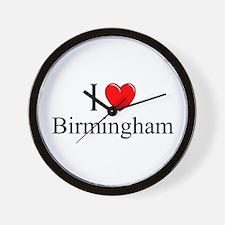 """I Love Birmingham"" Wall Clock"