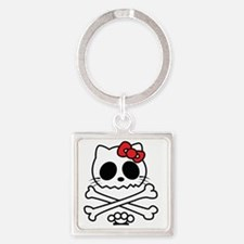 Hello Skully Square Keychain