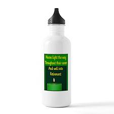 Nurse Retirement Cards Water Bottle