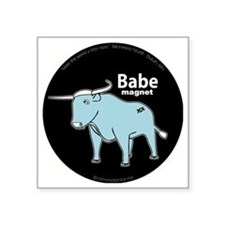 "Babe_magnet ( fixed ) Square Sticker 3"" x 3"""