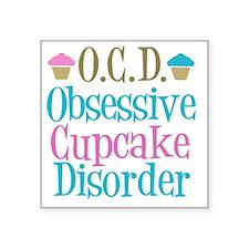 "obsessivecupcakedisorder Square Sticker 3"" x 3"""