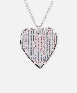 twilight quotes-bLANKET Necklace Heart Charm