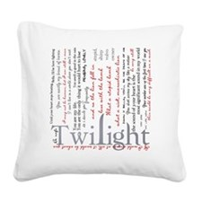 twilight quotes-bLANKET Square Canvas Pillow
