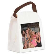 evas secret santa Canvas Lunch Bag