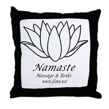 Namste3 Throw Pillow
