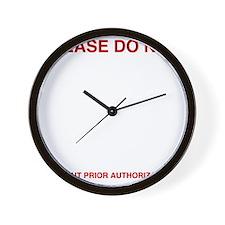 Please-do-not Wall Clock