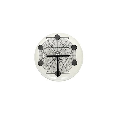 Multi-Dimensional Portal - BW Mini Button