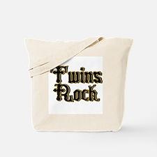 TwinBaby Twins Rock Tote Bag