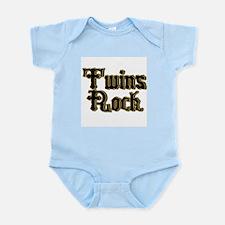 TwinBaby Twins Rock Infant Bodysuit